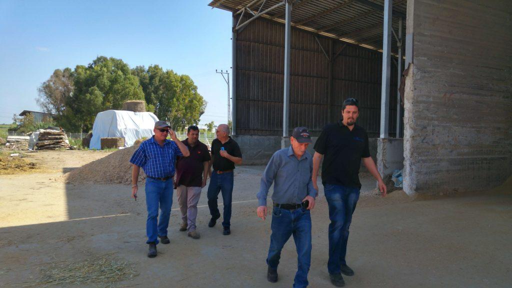 ביקור של הנינג במרכז המזון של אביגדור יחד עם נתיב וגד עציון